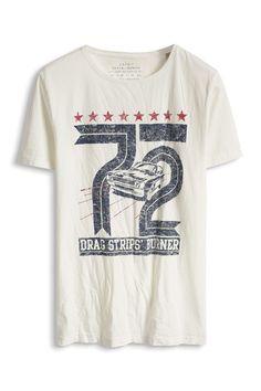 Davide Martini for Esprit - Baumwoll Jersey T-Shirt mit Used-Print im Online Shop kaufen