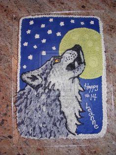 Howling Wolf Cake by HowlingWolf711.deviantart.com on @deviantART