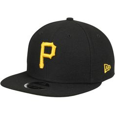 Men's New Era Black Pittsburgh Pirates State Clip Snapback 9FIFTY Hat