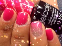 GlitterNailArtist| Pink Ombré -- nail art ideas, summer nails, transition nails, pink nails, two color ombré -- OPI Strawberry Margarita & My Favorite Ornament
