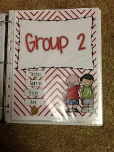 Guided Reading Binder FREEBIE! Use velcro for the names so that you can easily switch them as your groups change!
