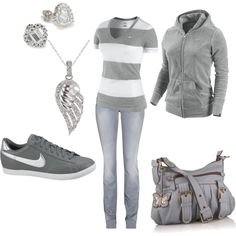 Nike, created by leah-strid on Polyvore