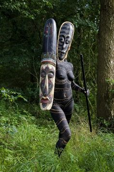 Tribal People, Tribal Women, World Cultures, Body Painting, African Masks, African Art, African Beauty, African Women, African Spear