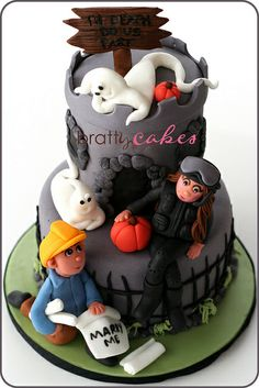 Halloween Engagement Cake by Natty-Cakes (Natalie), via Flickr