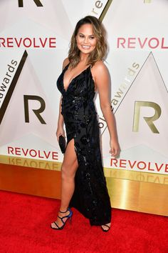 Chrissy Teigen attends the #REVOLVEawards at DREAM Hollywood.