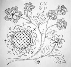 Clara Stickar: Swedish wool embroidery design.