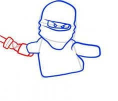 How to draw a Lego Ninjago step-by-step. Noah would be so excited