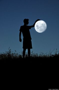 art with the moon | ... of amazing poses, including slam dunking the moon and jumping over it