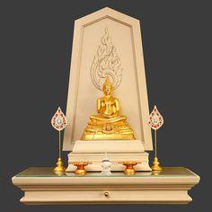 Pooja Room Door Design, Pooja Rooms, Prayer Room, Room Doors, Altar, Bookends, Buddha, Table Lamp, Thailand