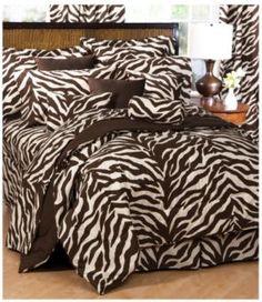 Zebra bedding! Kinda crazy but I love it.