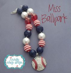CSD Miss Ball Park Chunky Necklace, Girls Necklace, Photo ...