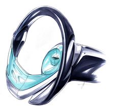 Hyundai i flow Concept Steering Wheel Design Sketch - Car Body Design