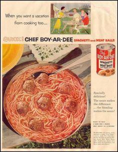 Chef Boy-Ar-Dee ~ Vintage Ad 