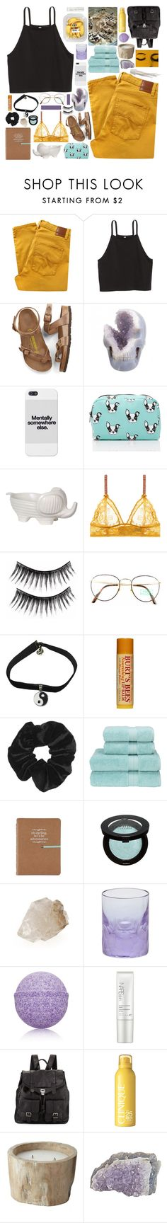 """""""☾ until we meet again // damiah's set contest day two"""" by thundxrstorms ❤ liked on Polyvore featuring Nobody Denim, Birkenstock, Forever 21, Privilege, STELLA McCARTNEY, Benetton, Retrò, Burt's Bees, Topshop and Christy"""