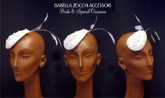 bridal headpiece - cappellino sposa con piume