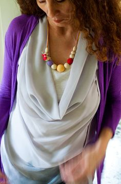 Silk Mama Nursing/Teething Necklace by by Simplyacircle on Etsy