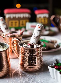 Frozen Hot Chocolate in a copper mug! Perfect take-home gift.