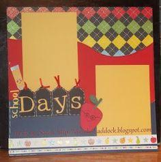 School Days 12x12 Layout #scrapbooking #simplybysarah
