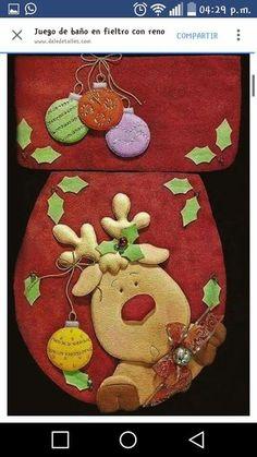 Christmas 2019 : Christmas decorations 2019 - 2020 that you can make with felt Christmas Sewing, Noel Christmas, Christmas Projects, Christmas 2019, Felt Christmas Decorations, Diy Christmas Ornaments, Holiday Decor, Christmas Bathroom Sets, Felt Crafts