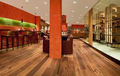 Tiger OAK black, brushed, natural oil I Restaurant I natural wood floors I mafi.com