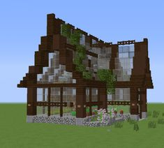 simple beautiful Green house Minecraft Project - Explore the best and the special ideas about Lego Minecraft Minecraft Greenhouse, Minecraft Fountain, Minecraft Garden, Minecraft Farm, Minecraft Cottage, Easy Minecraft Houses, Minecraft Castle, Minecraft Plans, Minecraft House Designs