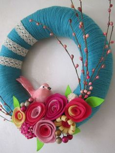 25+ Gorgeous Spring Wreaths | Create Craft Love