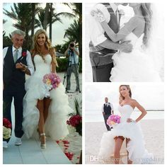 Halter A Line Wedding Dress Short Front Long Back Wedding Dress Sweetheart Sleeveless White Organza Floor Length Backless Organza Drapped High Low Beach Wedding Dresses Wedding Dress Online Store From Honeywedding, $128.8| Dhgate.Com