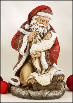 Adoring Santa with Baby Jesus