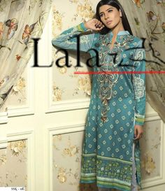 Sana & Samia Digital Embroided Kurti Vol 3. SSK_06
