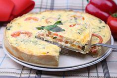 Torta salata estiva adatta ad un pic nic: provatela con pomodorini e feta al basilico