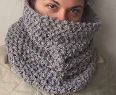 Cowl Knitting Pattern PDF for scarf Beginner DIY by Ebruk