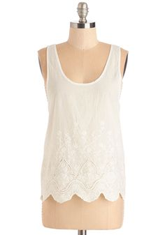 Shoreline Stroll Top. Sip a smoothie and soak up the sun as you amble down the boardwalk in this white tank top. #white #modcloth