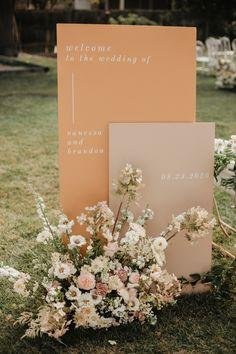 Wedding Paper, Floral Wedding, Fall Wedding, Wedding Colors, Wedding Ceremony, Wedding Flowers, Dream Wedding, Neutral Wedding Decor, Wedding Signage