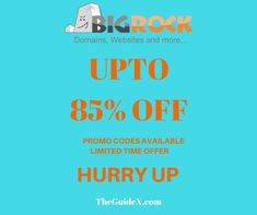 Use BigRock Coupons and get the huge discount on any web hosting. And Redeem BigRock coupon promo codes and register .com domain at Rs.99 only. More such coupons available Hurry Up Now Limited Time Offer.
