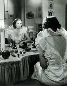 Vanity dressing table, old Hollywood glamour Barbara Stanwyck