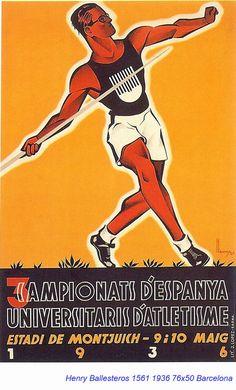 Spain - 1936. - GC - poster - autor: Henry Ballesteros