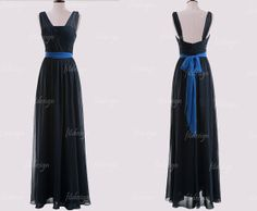 long bridesmaid dress navy blue bridesmaid dress by fitdesign, $119.00