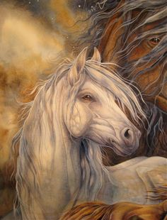 I love painting horses! by lelia Painted Horses, Pretty Horses, Beautiful Horses, Majestic Horse, Horse Drawings, Animal Drawings, Easy Paintings, Animal Paintings, Horse Paintings
