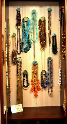 idea for necklace storage