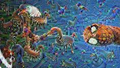 Deep dream of Spider-man and Venom. Using the inception5a/1x1 layer. ... #spiderman #spider #man #spider-man #venom #teeth #tounge #deepdream #deepdreams #neuralart #neuralstyle #deepdreamart #deepstyle #psychedelic #deeplearning #machinelearning #caffe #python by deeplearningpics