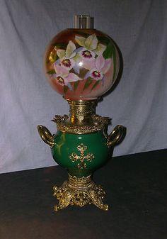 Antique Columbia Handled Banquet Oil Lamp | eBay