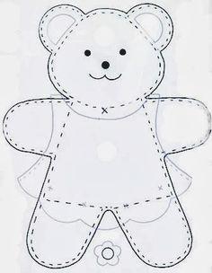 Amigas do Feltro!...boy and girl teddy bears!