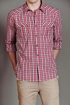 love the red- great with denim and khaki