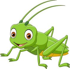 Grasshopper Clipart and Stock Illustrations. Grasshopper vector EPS illustrations and drawings available to search from thousands of royalty free clip art graphic designers. Grasshopper Pictures, Grasshopper Pose, Cartoon Pics, Cute Cartoon, Alphabet For Kids, Applique Quilts, Art Lessons, Baby Animals, Art For Kids