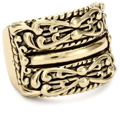"Bronzed by Barse ""Jubliee"" Ornate Wide Band Ring > Price:	$20.00 > * Genuine bronze  * Ornate band ring  * Made in Thailand  > Click on the image for details and offers."