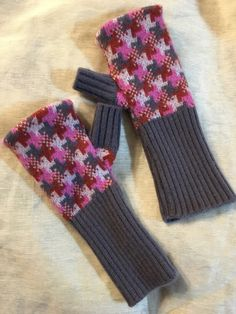 A personal favorite from my Etsy shop https://www.etsy.com/listing/267216224/d47-pink-gray-cashmere-arm-warmer-women