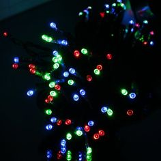 EiioX Muti-color Color Changing 17m/55ft 100 LED Solar Fairy String Lights for Christmas XMAX Tree, Partys, Weddings, Family, Festival by EiioX. $15.99. This solar LED lights fairy string is environment-friendly products with high  engey conversion rate and long working life, perfect for indoor & outdoor  decoration, such as Christmas party, bar, restaurant    Features:  New design, powered by solar energy.  Sealed process, with good waterproof performance.  1...
