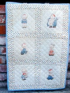 Vintage Nursery Quilt/Wall Hanging  18x27 Hand by lovesknitting, $30.00