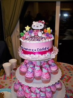 Hello Kitty Cakes And Cupcakes | Hello Kitty! - Red Velvet Hello Kitty Cake & Cupcakes My parents...