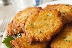 Tortitas de patatas ralladas con salsa agridulce